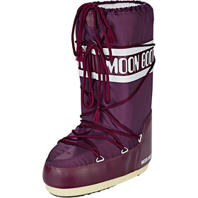 Moon Boot Nylon Botas, borgogna